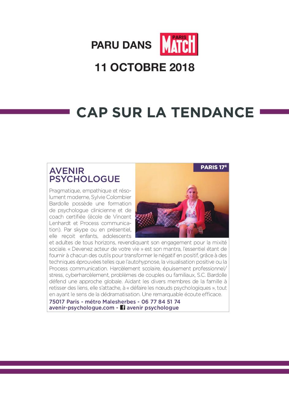 Avenir Psychologue Paris 17 - Gestion du stress, confiance en soi , communication adultes, adolescents et enfants